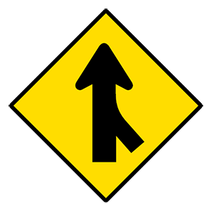 alabama merging traffic from right road sign
