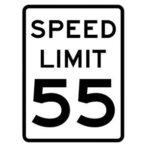 arkansas speed limit 55 road sign