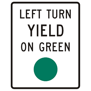 california left turn yield on green