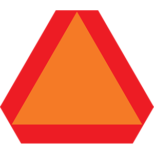 california slow moving vehicle road sign