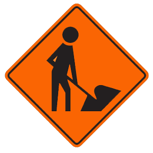connecticut workers road sign