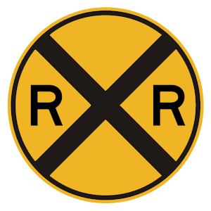 florida railroad crossing road sign