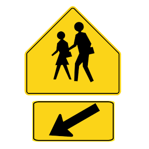 georgia school crosswalk road sign
