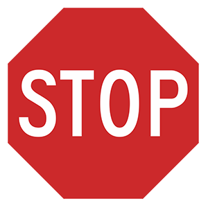 georgia stop road sign