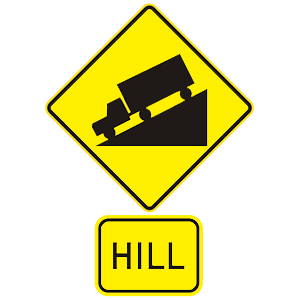 hawaii hill road sign