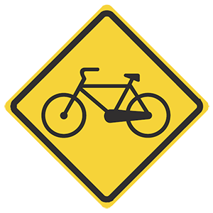 illinois bicycles crossing road sign