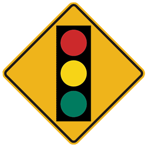 illinois signal ahead road sign