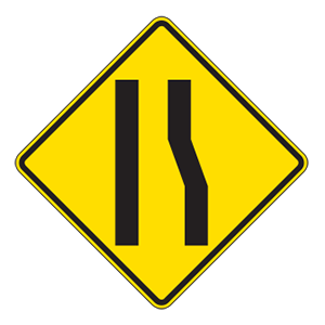 indiana lane ends road sign