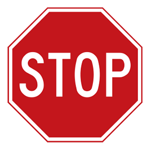 indiana stop road sign