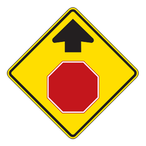 indiana stop ahead road sign