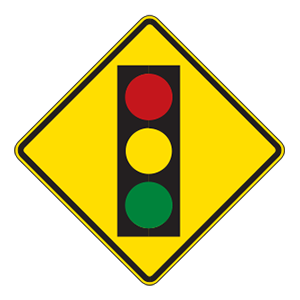 indiana traffic signal road sign