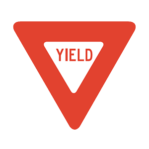 iowa yield road sign