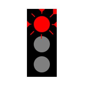 maryland flashing red light