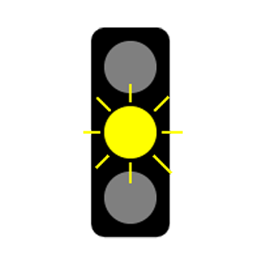 maryland flashing yellow light