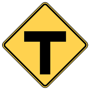 maryland t intersection ahead