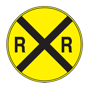 nebraska railroad crossing road sign