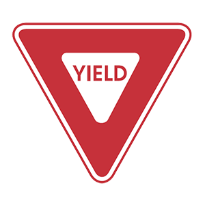 nebraska yield road sign