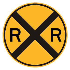 new york railroad crossing road sign