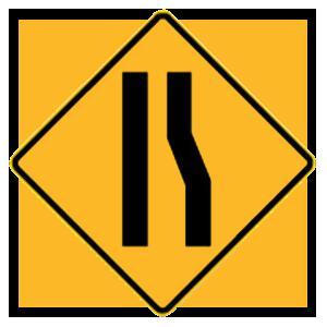 new york right lane ends merge left