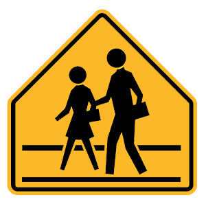 new york school crossing road sign