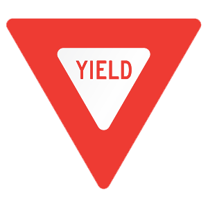 new york yield road sign