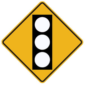 pennsylvania traffic signal ahead blank road sign