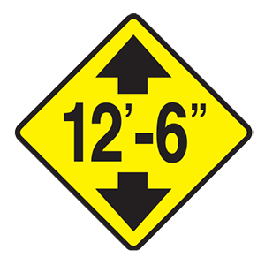 tennessee low clearance road sign