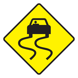 tennessee slippery when wet road sign