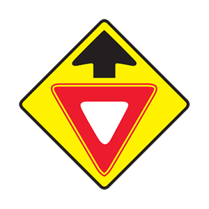 tennessee yield ahead road sign