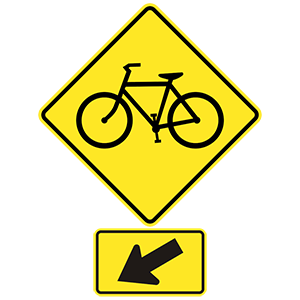 virginia bicycle crossing left
