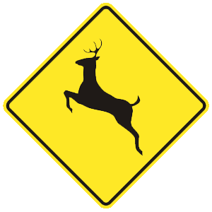 virginia deer crossing road sign