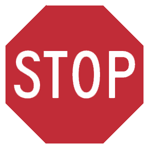 virginia stop road sign