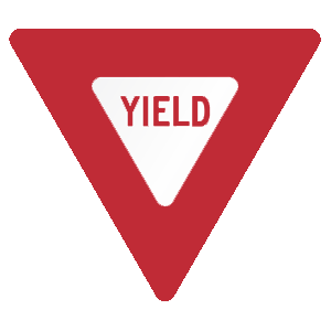 virginia yield road sign