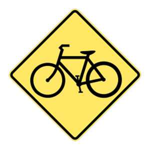 washington advance warning bicycles road sign