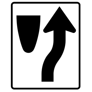 new york keep right of divider