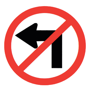 new york no left turn