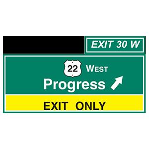 pennsylvania progress exit only