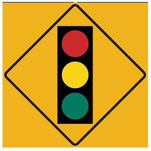 pennsylvania traffic signal ahead