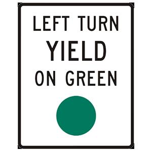 virginia left turn yield on green